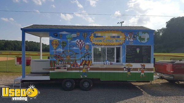 20' Snowball/Shaved Ice Concession Trailer with Porch