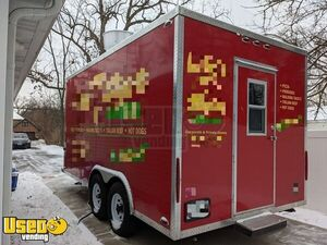 2018 - 8' x 16' Pizza Concession Trailer / Ready to Use Mobile Pizzeria