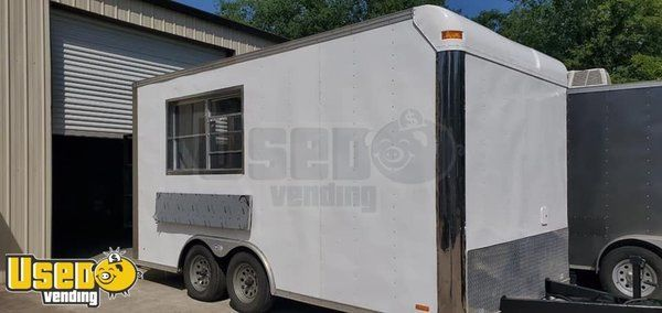 2019 8' x 16' Food Concession Trailer with Pro Fire Suppression