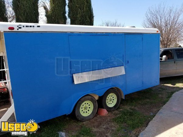 2004 - 8.5' x 20' Stainless Steel Food Concession Trailer with 4' Porch