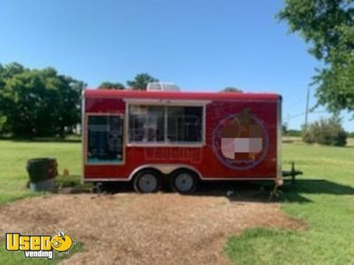 Turnkey Ready 2019 Cargo Craft 8.5' x 16' Shaved Ice/Snowball Concession Trailer