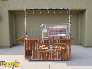2016 - 3' x 8' Coffee Concession Cart / Permitted Mobile Barista Espresso Kiosk