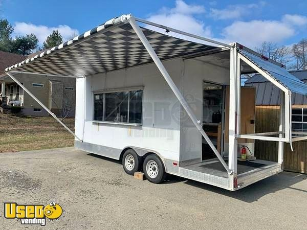 Turnkey Biz Loaded 2010 27' Food Concession Trailer with Porch and Awning