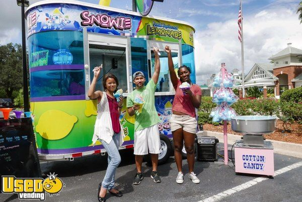 Well-Kept 2015 - 5' x 12' Snowie Shaved Ice Concession Trailer / Snowball Stand