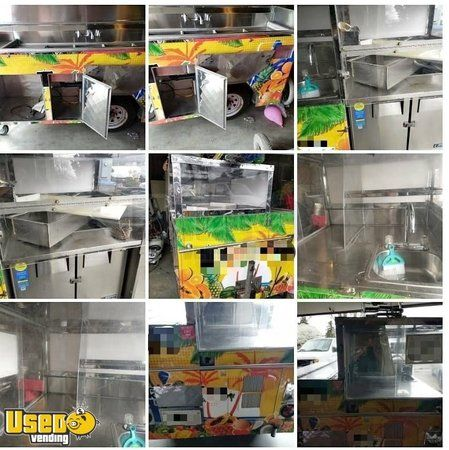 Used Beverage / Fruit Street Concession Cart with Water Heater