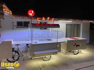 (2) Brand New Electric Mobile Coffee Concession Bike Cart/Cafe on Wheels