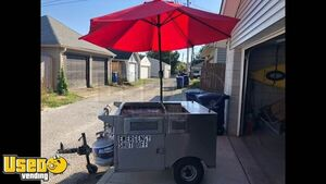 Used Street Food Vending Cart / Hot Dog Cart Shape