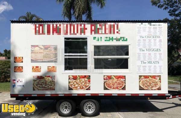 2019 - 8.5' x 18' Pizza Concession Trailer - Only Used for Six Months