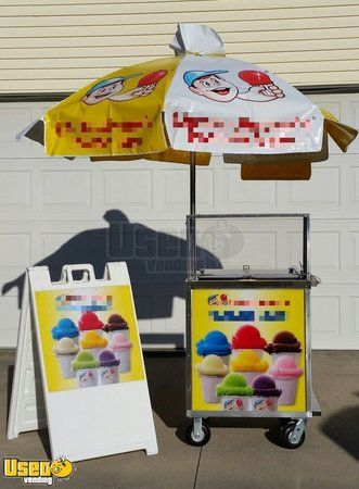 3.8' x 4.5' Ice Cream Vending Cart
