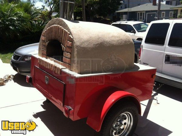 80'' x 190'' Pizza Concession Trailer with Towing Van