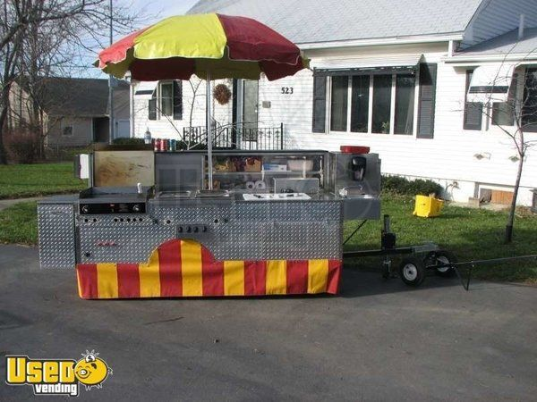 High Capacity Hot Dog Cart