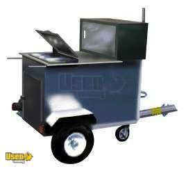 HT 100 - Stainless Towable Hot Dog Cart