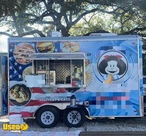 2018 - 8' x 14' Lightly Used Mobile Kitchen / Commercial Food Trailer