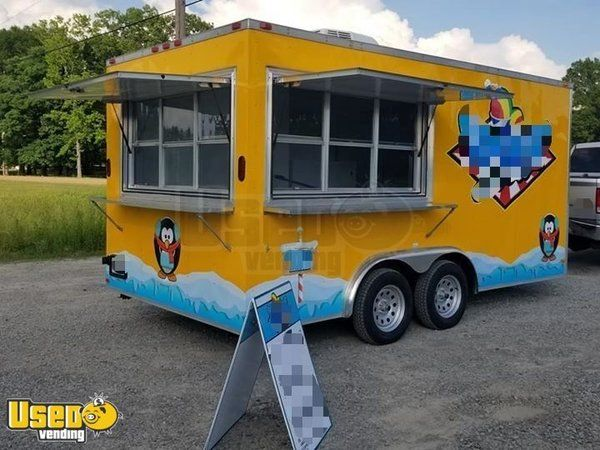 8' x 16' Shaved Ice Concession Trailer