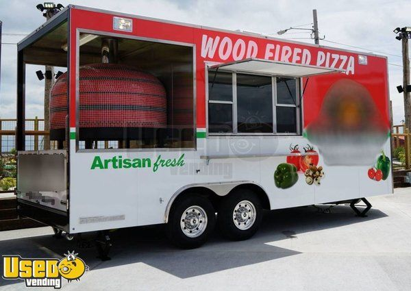 2017 - 8.6' x 20' Wood Fired Pizza Concession Trailer