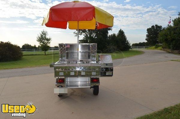 Stainless Hot Dog Street Food Vending Cart