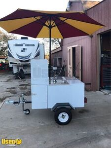 Full-Featured Brand New Mobile Food Vending Hot Dog Concession Cart