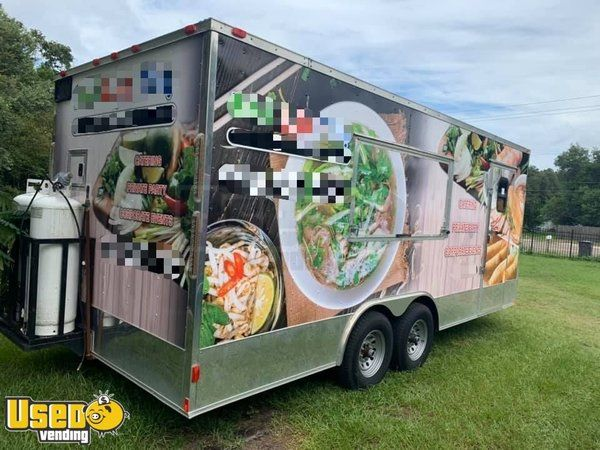 Licensed 2017 - 8.5' x 20' Spacious Mobile Kitchen Food Concession Trailer