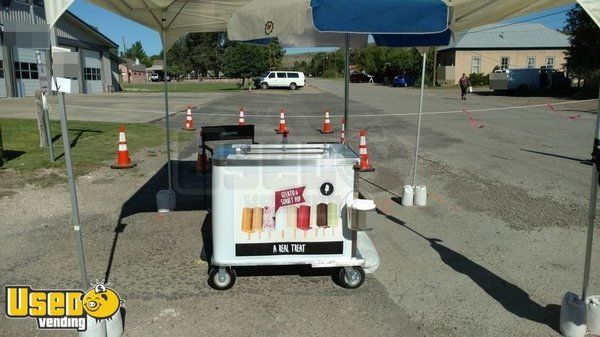 Nelson Cold Plate Ice Cream Push Cart