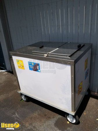 Nelson Cold Plate Ice Cream Freezer Push Cart