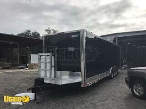 2018 - 8.5' x 35' BBQ and kitchen Food Trailer with Porch and Bathroom
