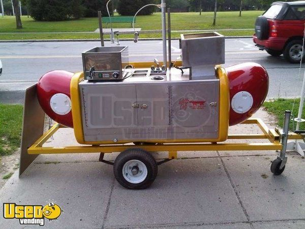 Willy Dog Brand Hot Dog Vending Cart