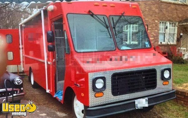 22' GMC Step Van Food Truck / Loaded Mobile Kitchen Pro Fire Suppression System