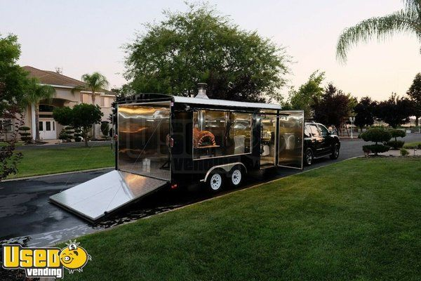 Turnkey 2015 Patriot 8' x 16' Wood-Fired Pizza Concession Trailer w/ Nissan Truck