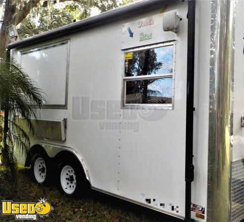 Barely Used and Super Clean 2013 8' x 16' River Forest Food Concession Trailer