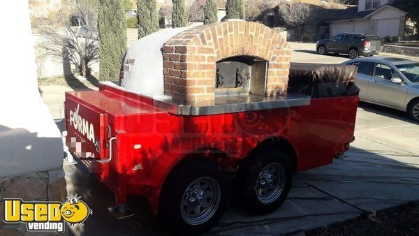 2012 15' Wood-Fired Oven Pizza Double Axle Catering Used Food Concession Trailer