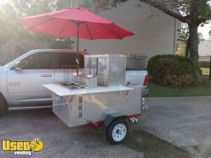 Lightly Used 2020 3' x 6' Hot Dog Cart / Street Food Vending Concession Cart