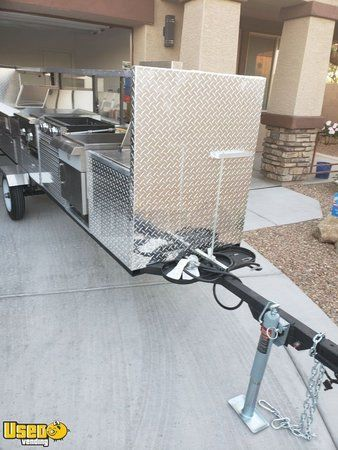 NEW All Stainless Steel 2019 - 6' x 12' Highway Approved Street Food Cart