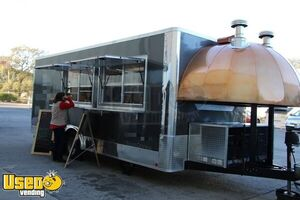2020 - 8.5' x 27' Turnkey Licensed High Output Wood-Fired Pizza Concession Trailer