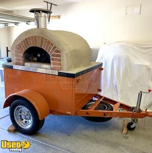 New 2019 6.7' x 9.5' Forno Bravo Wood-Fired Oven on Wheels / Pizza Trailer