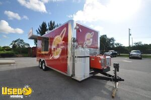2019 - 8' x 20' Lightly Used Commercial Kitchen Food Concession Trailer
