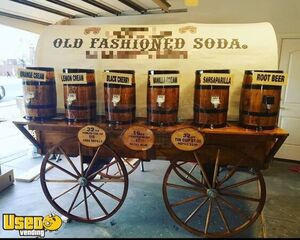 Turnkey Chuck Wagon Style Old Fashioned Soda Business w/ Transport Trailer
