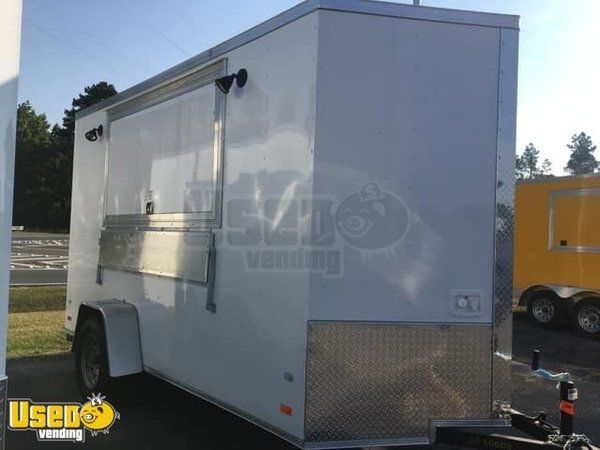2019 - 6' x 12' WOW Cargo Shaved Ice Concession Trailer / Used Snowball Stand