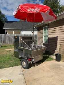 All Stainless Steel Street Food Concession Cart / Hot Dog Cart