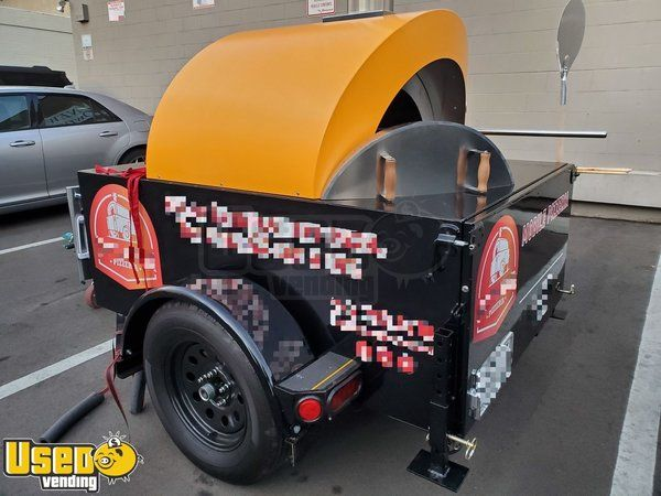 2019 4' x 6' Wood Burning Premier Alfa Pizza Oven w/ 12' Trailer