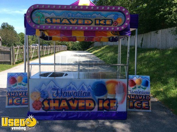 7' Shaved Ice Vending Cart