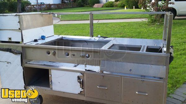 New Stainless Steel Hot Dog / Food Vending Cart