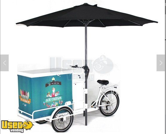 2019 3' x 7' NEW Mobile Electric Battery Powered Classic Ice Cream Bikes