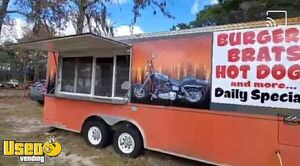 Mobile Kitchen Food Concession Trailer with Newly Inspected Fire Suppression
