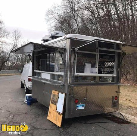 Turnkey 2004 7' x 12' All Stainless Steel Food / Pizza Concession Trailer
