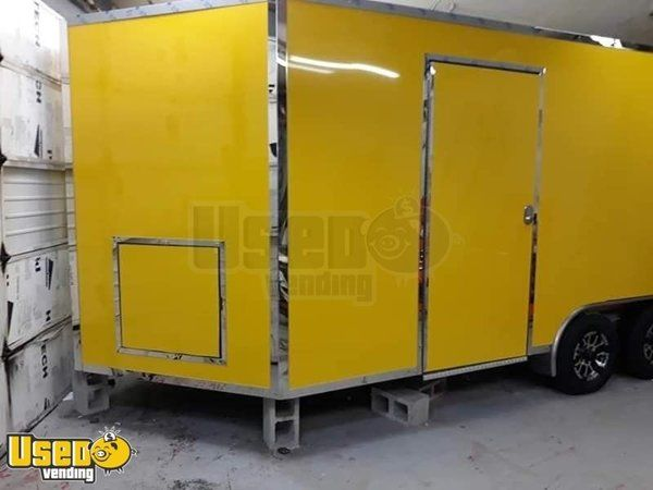 Beautiful Full Featured 8.5' x 16' V-Nose Food Concession Trailer