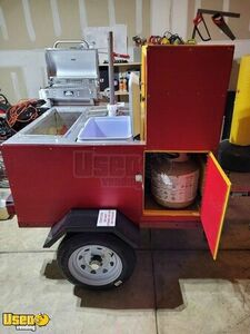 Brand NEW 2020 - 4.3' x 4.5' Hot Dog Concession Cart / NEW Food Vending Cart