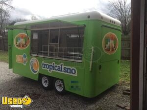 Lightweight Snowball Shaved Ice 7' x 14' Concession Trailer