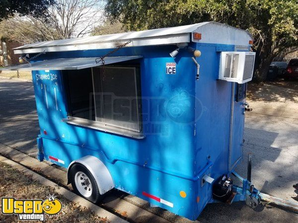 Turnkey  6' x 10' Erskine and Sons Shaved Ice Concession Trailer / Snowball Stand