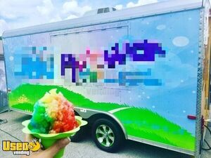Ready for Business Snowball Trailer / Used Shaved Ice Concession Trailer