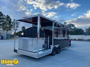 Brand New 2020 20' Brick Oven Wood-Fired Pizza Concession Trailer with 6' Porch